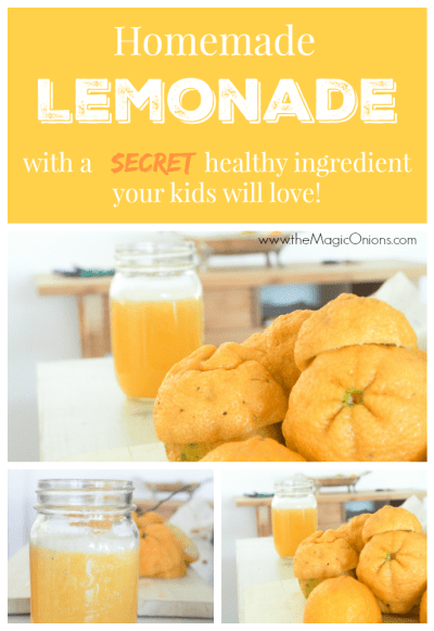 Lemoande Recipe with a SECRET healthy ingredient your kids will LOVE :: www.theMagicOnions.com