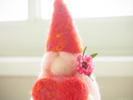 Valentine Gnome Needle Felting Tutorial :: www.theMagicOnions.com