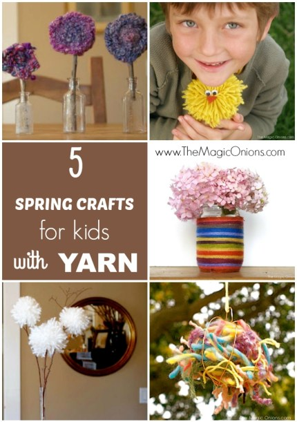 Spring Crafts for Kids using Yarn :: www.theMagicOnionsc.om