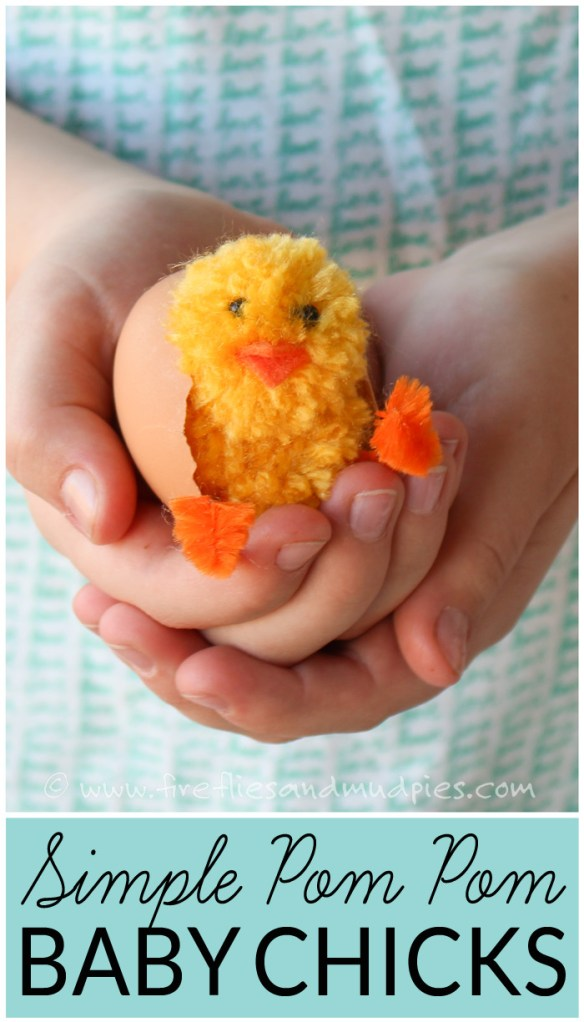 DIY Yarn Pom Pom Easter Chicks for Simple Spring and Easter Crafting :: www.theMagicOnions.com
