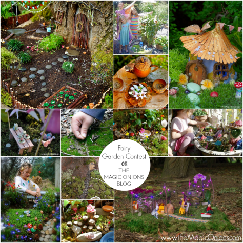 Gorgeous photos of fairy gardens on The Magic Onions Blog