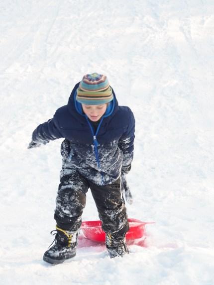 Sledding in Keene New Hapmshire - www.theMagicOnions.com