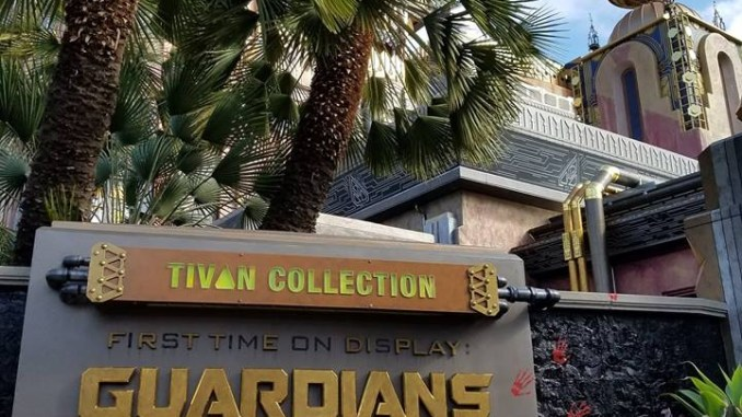 Guardians of the Galaxy - Mission: Breakout! sign