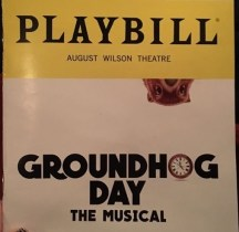 Groundhog Day Playbill. The show is up for a number of Tony Awards this year.