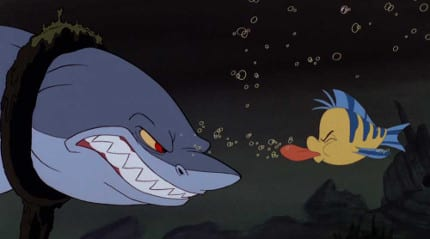 The-Shark-and-Flounder-in-The-Little-Mermaid