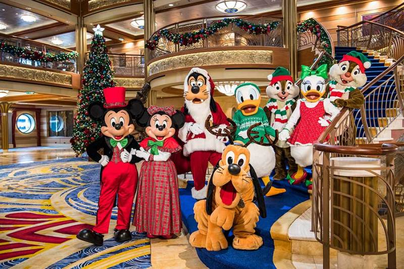 Holiday celebrations aboard Disney Cruise Line