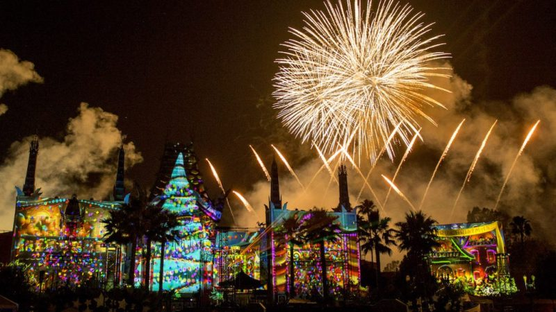"""Jingle Bell, Jingle BAM!"" holiday fireworks show from Disney's Hollywood Studios"