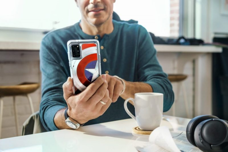 """Clear Galaxy S20 Ultra 5G OtterBox case inspired by """"The Falcon and The Winter Soldier"""""""