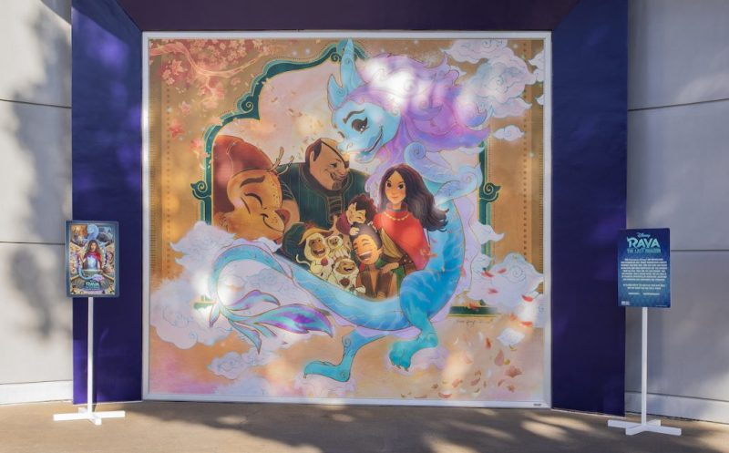 Artwork Inspired by Disney's 'Raya and the Last Dragon' by Imagineer Xiao Qing Chen at Downtown Disney District