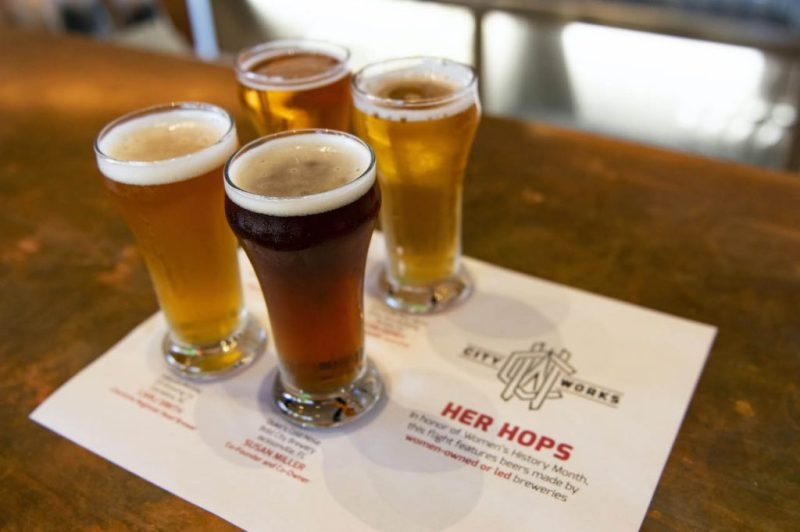 """""""Her Hops Flight"""" from City Works Eatery & Pour House at Disney Springs"""