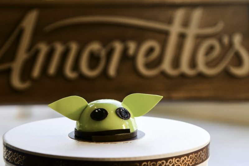 Grogu Mini Dome Cake at Amorette's Patisserie