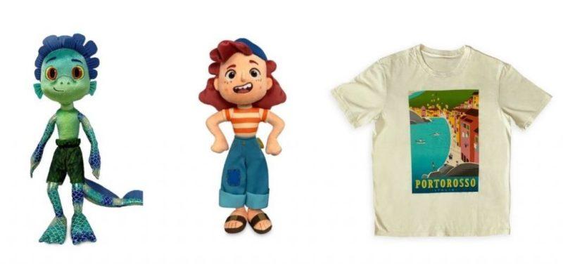 Luca Sea Monster Plush, Giulia Plush and Portorosso T-Shirt