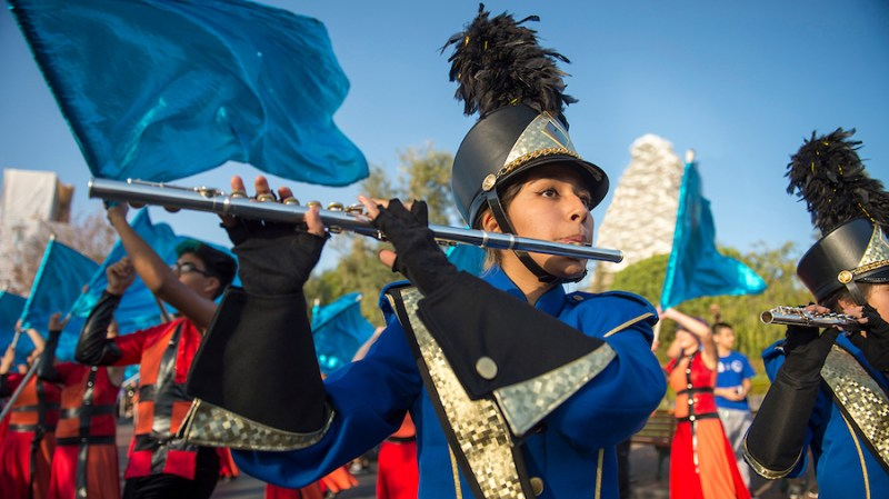 Student playing the flute at Disneyland Resort