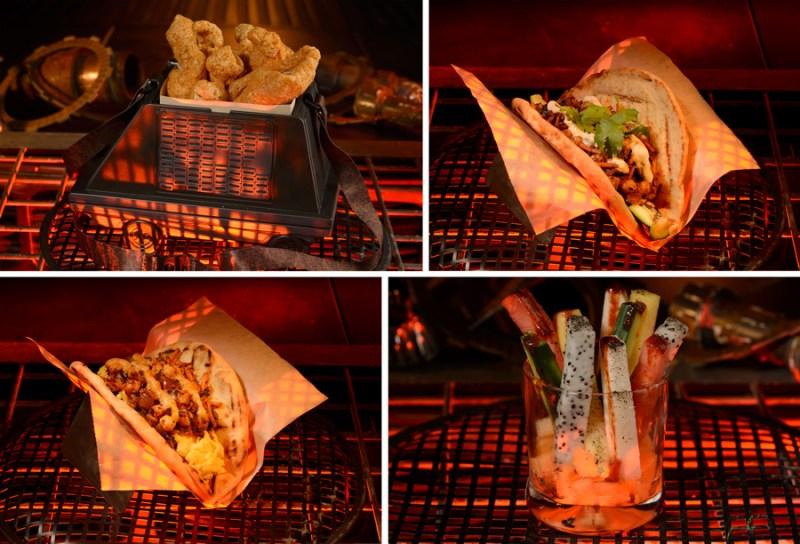 Ronto Roasters - Zuchii Wrap, Triple Suns Breakfast Wrap, Andoan Fruit with Muja Sauce and Kyryll Pork Rinds