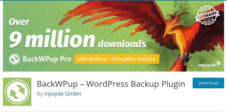 Backupwp image that displays it as part of the best backup Plugins WordPress