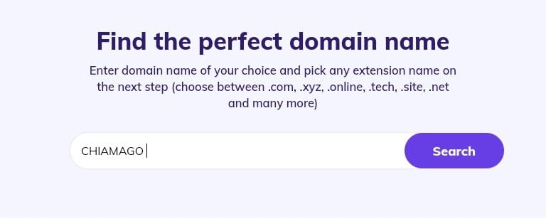 Domain availability check image to start a blog on blogging for beginners