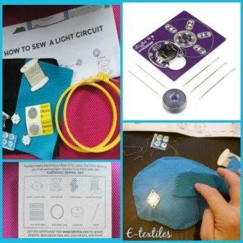 TheMakerMom.com's 2015 Best STEM Gift Guide includes two e-textile kits. A fun way to learn about electronics!