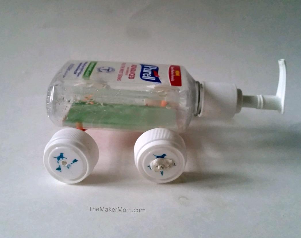 Build a plastic bottle toy car | The Maker Mom Blog