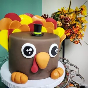 Surprising Turkey Themed Birthday Cake The Cake Boutique Funny Birthday Cards Online Unhofree Goldxyz