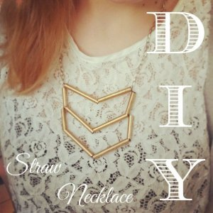 DIY Straw Necklace Art Idea The Makeup Dummy