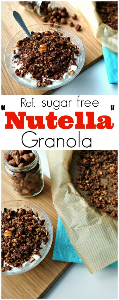 "This granola tastes AMAZING! Refined sugar free ""Nutella"" Chocolate Hazelnut Granola. Recipe by The Makeup Dummy"