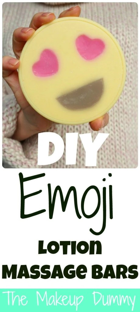 This is AMAZING! How To make your own DIY Heart Emoji Lotion Massage Bars! Tutorial by The Makeup Dummy