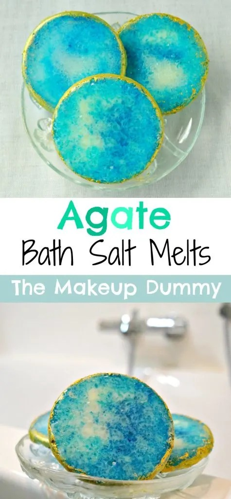 These crystal rock bath melts look so BEAUTIFUL! How To make your own DIY Agate gemstone inspired bath salt melts, the perfect Christmas gift for Secret Santa! Tutorial by The Makeup Dummy