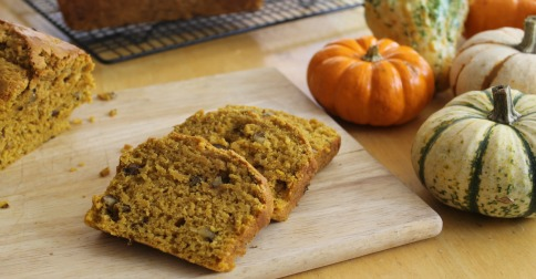 Moist and delicious pumpkin nut bread made in small size loaf pans - perfect for gift giving!