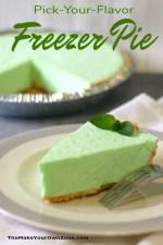 Easy Freezer Pie Recipe made with jello, cool whip, and yogurt