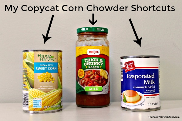 Homemade copycat Panera summer corn chowder