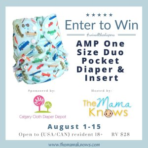 AMP cloth diaper giveaway