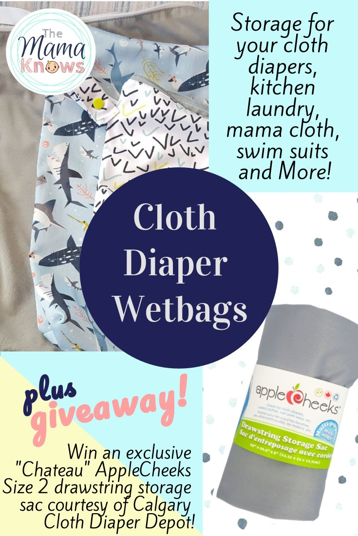 Cloth Diaper Wet bags come in many sizes and brands and you can use them for more than just dirty diaper Storage! Read all about them and enter to win one