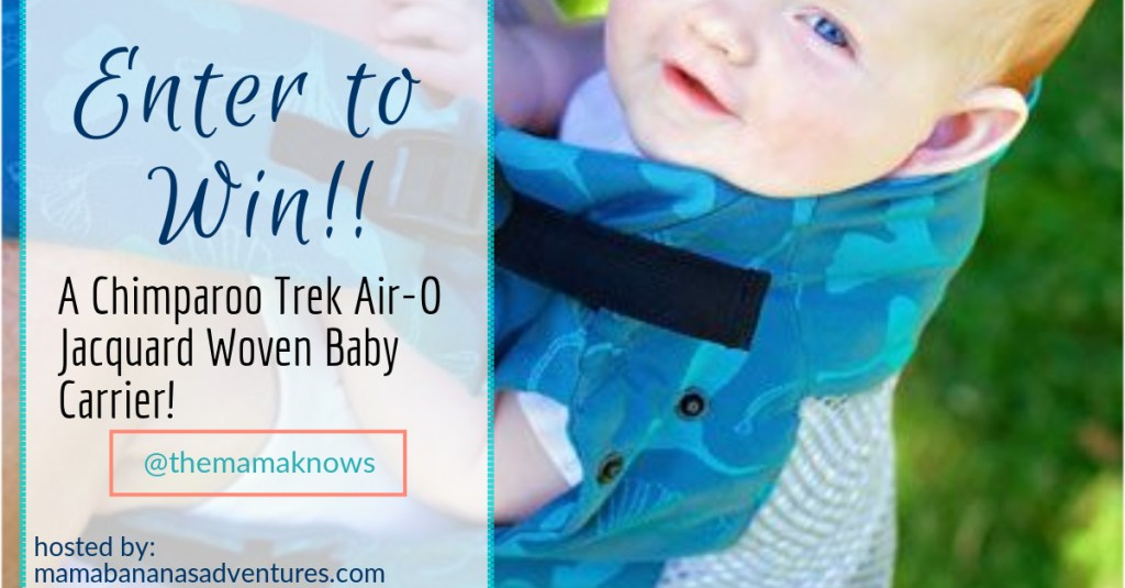 Win a Chimparoo Trek Air-O Baby Carrier