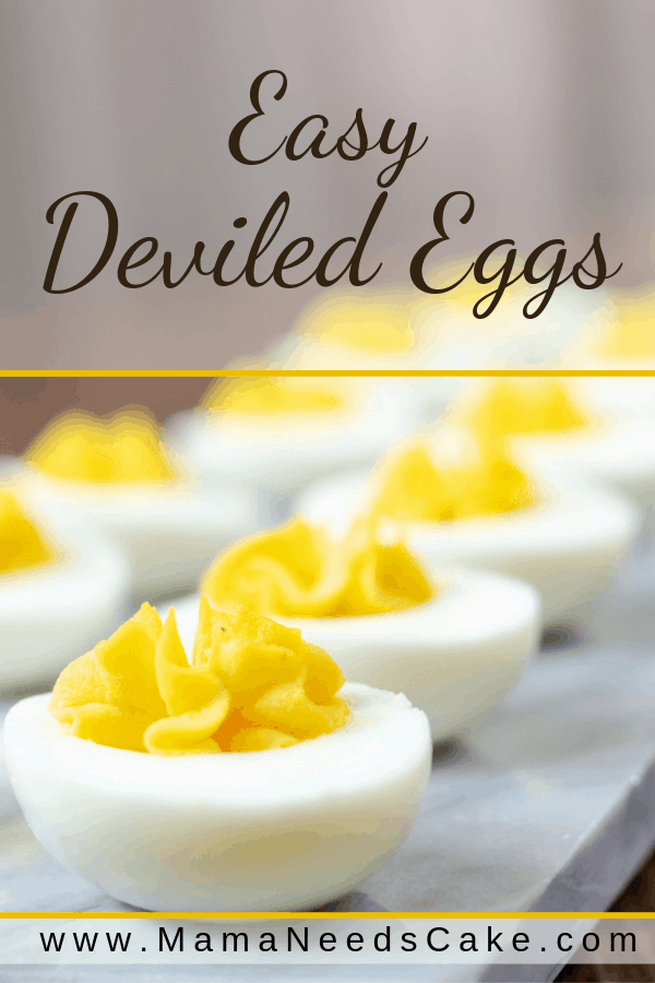 These easy deviled eggs are made using a recipe that my mother always uses. These eggs are a perfect addition to potlucks, holiday parties, and family dinners. #appetizer #holidaymeals #potluck #eggs #deviledeggs #easyrecipe #foodblogger