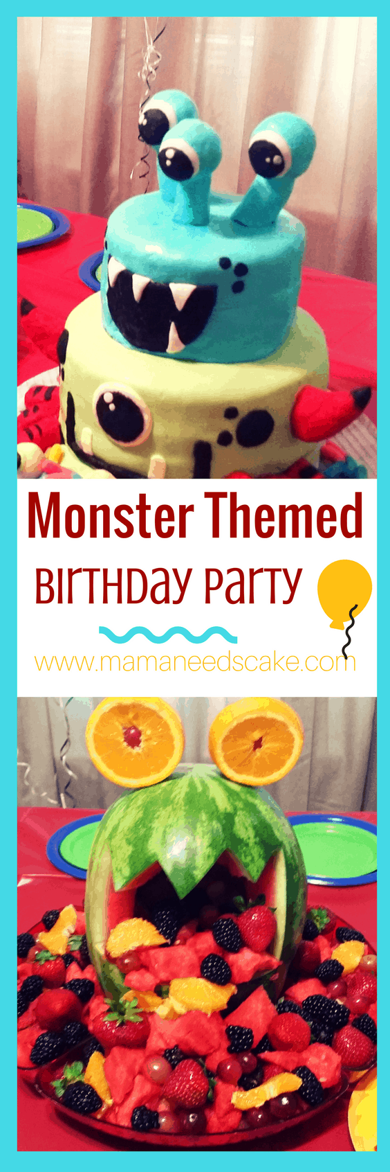 Monster Themed Birthday Party Mama Needs Cake