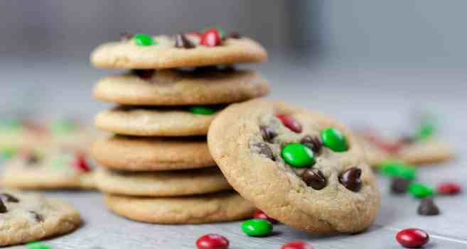 chocolate chip m&m cookies candy pieces thanksgiving christmas