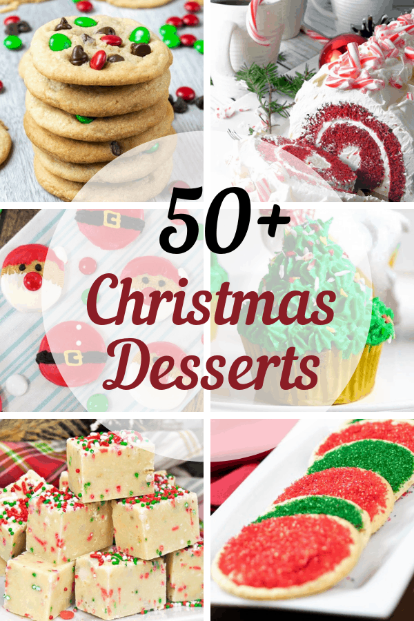 Christmas season means baking season is here & I've made it easy by rounding up 50+ must try Christmas Desserts. #dessert #christmasgifts #christmascookies #christmas #thanksgivingrecipes #thanksgivingdesserts #cookies #cookierecipes #foodie #dessertfoodrecipes #desserts #foodblogger #foodlover #dessertrecipes #foodgasm #recipeoftheday #foodblog #recipeideas #familyrecipes #chocolatechipcookies #glutenfreerecipes #holidaydessert #bakedgoods #bundtcake #fudge #christmascookiexchange