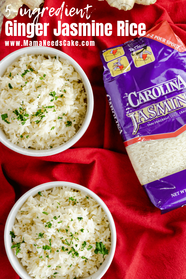 Quick and Easy 5 Ingredient Instant Pot Ginger Jasmine Rice - Mama Needs Cake