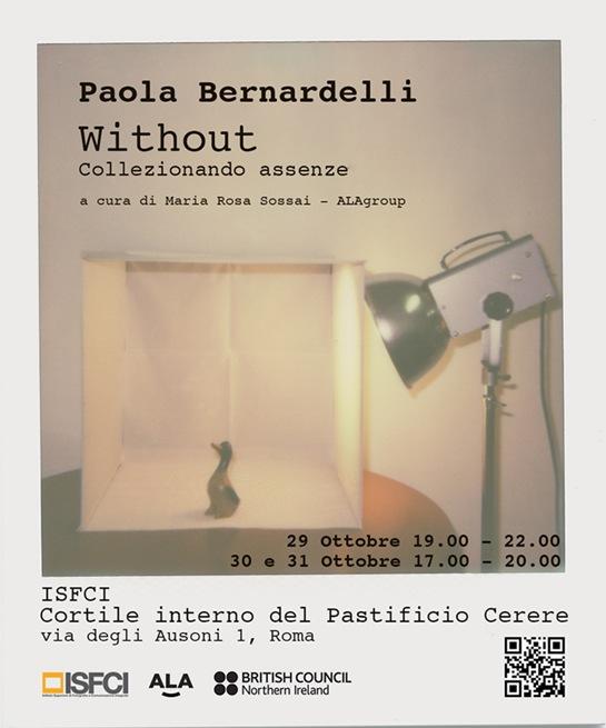 """In contemporanea, partirà il progetto """"Without"""" di Paola Bernardelli"""
