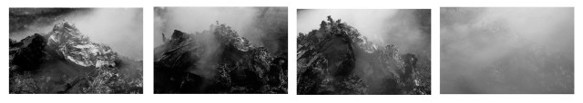 Raúl Hevia Instrucción 1, 2, 3, 4.  2013Inkjet print with long duration mineral pigments on Hahnemühle Matte Photo Rag 300 gr., cotton acid-free paper glued to forex.  52 x 80 cm. each