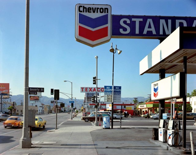 Beverly Boulevard at La Brea Avenue, Los Angeles, California,21 June 1975. From the Uncommon Places series. © Stephen Shore. Courtesy 303 Gallery, New York.