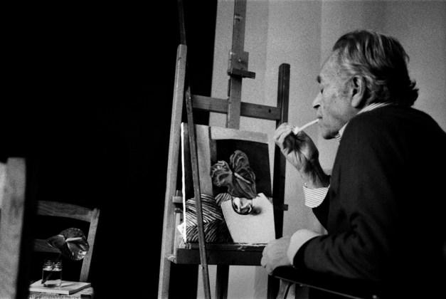 Letizia Battaglia Renato Guttuso nel suo studio Palermo, 1985 Courtesy l'artista