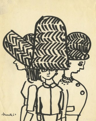 Brunetta (Brunetta Mateldi), s.t., 1960, china su carta