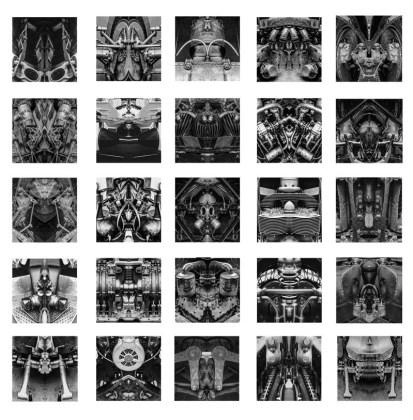 Rémy Markowitsch (Zurigo, Svizzera, 1957) Psychomotor, 2016 Stampa su carta baritata Print on baryte paper 25 parti, 47 × 47 cm ciascuna Courtesy Galerie EIGEN + ART Leipzig/Berlin