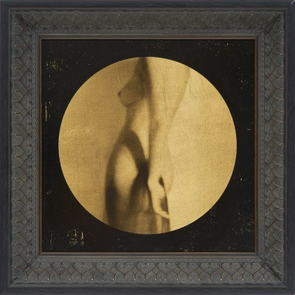 """Corinne Héraud, Series Corpus, """"Corpus # 2"""", 2017, Photography and mixed media on gold leaf and wood, 30 x 30 cm, Edition: 5 + 2 AP, Courtesy: Courcelles Art Contemporain"""