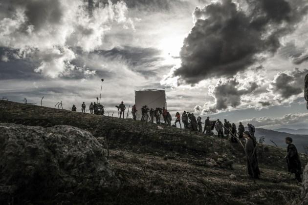 Monte di Amir Naderi (2016). Il set [ph. Federico Vagliati]