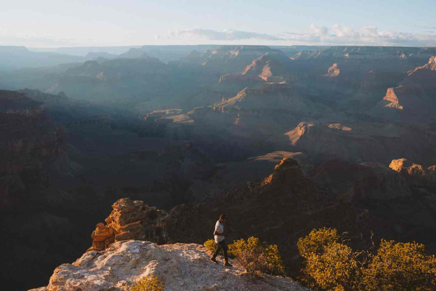 American Southwest road trip stops - Grand Canyon at sunset