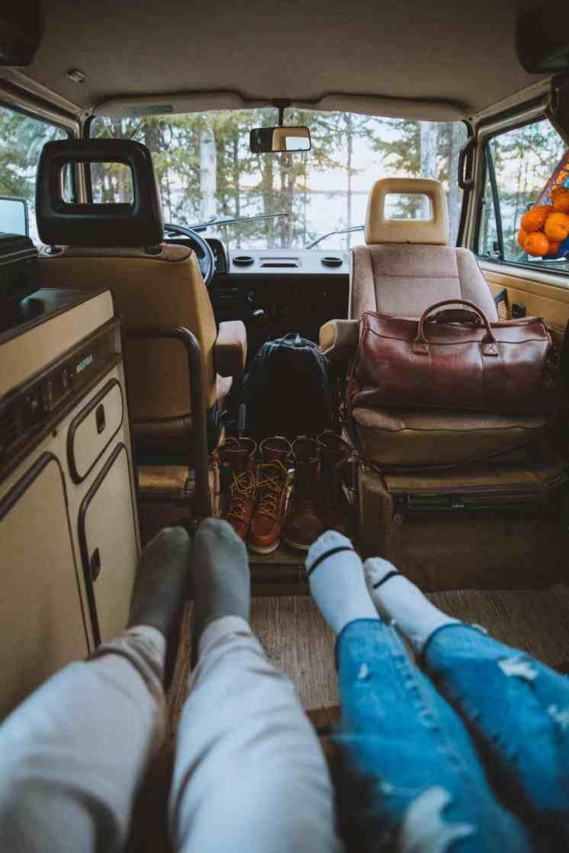 Lounging In The VW Westfalia, Alaska- TheMandagies.om