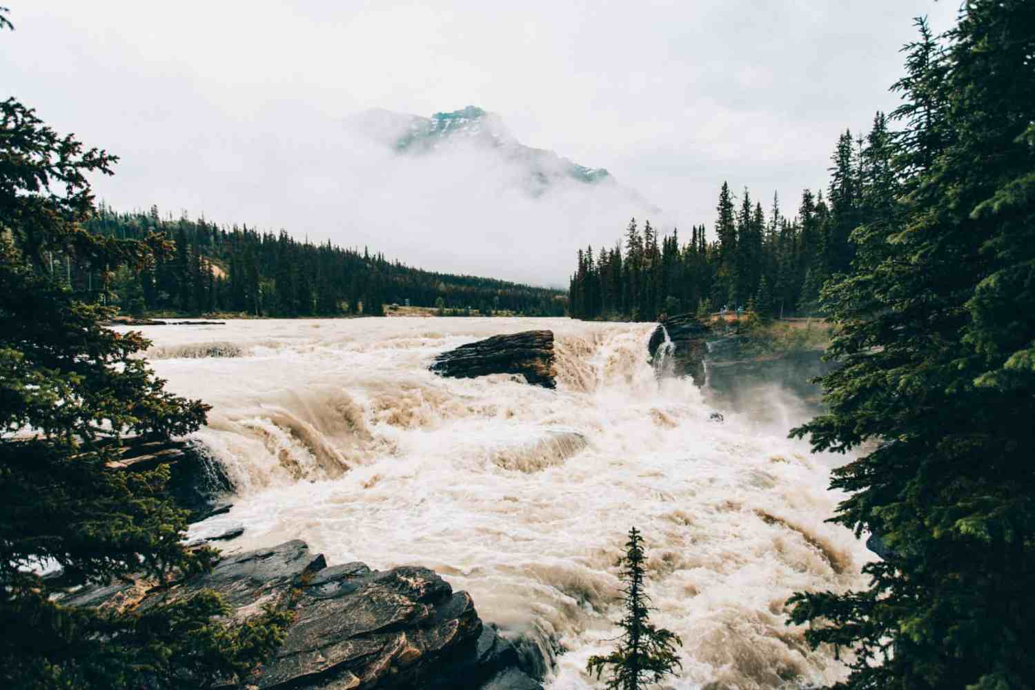 Photo Spots In Jasper National Park - Athabasca Falls