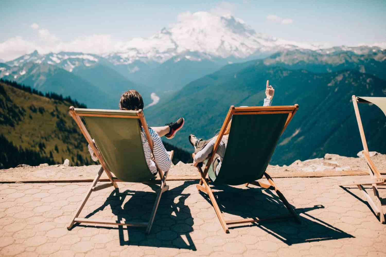 Outdoor Activities in Pierce County - view of Mt. Raininer form summit - TheMandagies.com